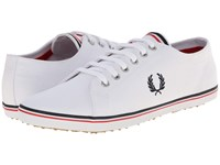 Fred Perry Kingston Twill White Navy England Red Men's Lace Up Casual Shoes
