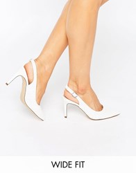 New Look Wide Fit Sling Back Heeled Shoe White