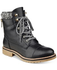 Tommy Hilfiger Omar2 Lace Up Booties Women's Shoes Black