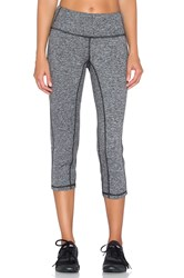 Pink Lotus Elite Performance Crop Legging Charcoal