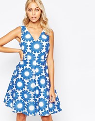 Traffic People Send Me No Flowers Lets Dance Dress In Floral Crochet Blue