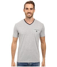 7 Diamonds Kolby Short Sleeve Shirt Grey Men's T Shirt Gray