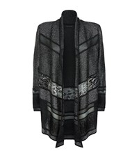 St. John Lurex Panelled Cardigan Female Black