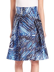 Milly Modern Pleated Midi Skirt Blue