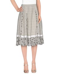 Ekle' Skirts 3 4 Length Skirts Women Light Grey