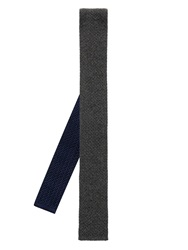Brioni Silk And Cashmere Blend Knitted Tie