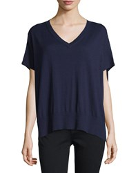 Diane Von Furstenberg Honey V Neck Dolman Sweater Midnight Black