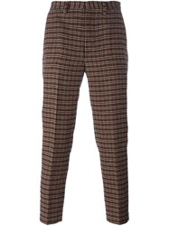 Msgm Houndstooth Check Trousers Multicolour