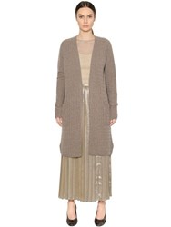 Max Mara Cashmere And Wool Cable Knit Cardigan