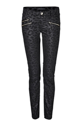 Juicy Couture Leopard Print Coated Skinny Jeans