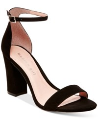 Madden Girl Madden Girl Bella Two Piece Block Heel Sandals Women's Shoes Black