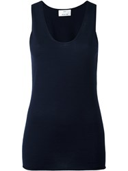 Allude Knit Long Tank Top Blue