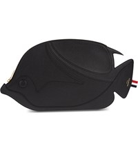 Thom Browne Fish Leather Pouch Black
