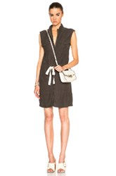 Enza Costa Sleeveless Utility Dress In Gray