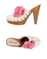 Swish Mules White