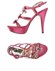 Barachini Sandals Fuchsia