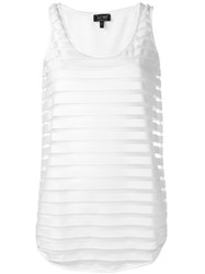 Armani Jeans Layered Fitted Dress White
