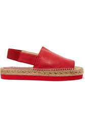 Paloma Barcelo Napalux Leather Sandals Red