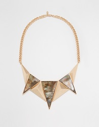 Selected Femme Courtney Chunky Bib Necklace Gold