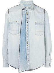 Golden Goose Deluxe Brand 'Keith' Denim Shirt Blue
