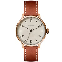Tsovet Svt Cn38 Rose Gold And Tan Leather Watch