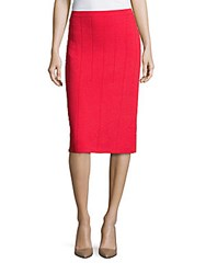 Giorgio Armani Pull On Pencil Skirt Red