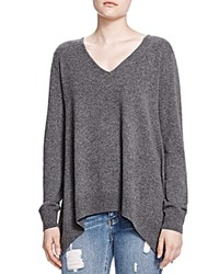 The Kooples Cashmere V Neck Sweater Gray
