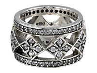 King Baby Studio Wide Band Ring W Mb Cross And Cz Silver Ring