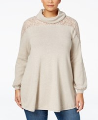 Styleandco. Style Co. Plus Size Lace Trim Sweater Only At Macy's Hammock Heather