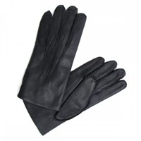 Chester Jefferies Black Cape Leather Dress Gloves Silk Lined