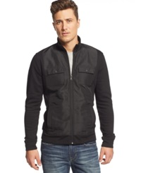 Alfani Black Big And Tall Reyes Quilted Fleece Jacket Only At Macy's