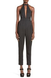 Women's Missguided High Neck Crop Jumpsuit Black