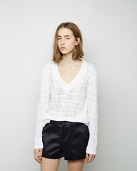 Rag And Bone Shana V Neck Pullover White