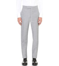 Thom Browne Hector Jacquard Tailored Fit Wool Trousers Med Grey