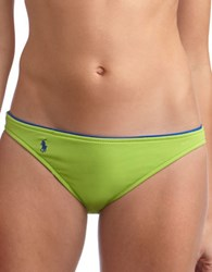 Polo Ralph Lauren Pique Hipster Swim Bottom Green