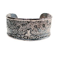 House Of Alaia Tree Of Life Cuff Bracelet Sterling Silver