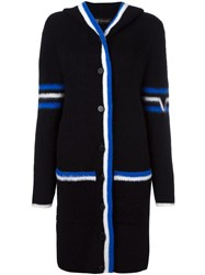 Versace Hooded Long Cardigan Black