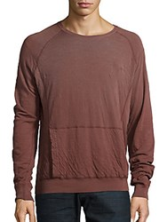 Splendid Mills Faded Long Sleeve Cotton Tee Portabello