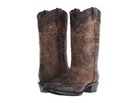 Stetson Delamar Black Shaft Cowboy Boots Brown