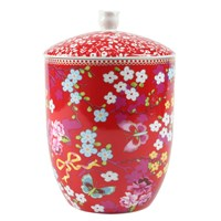 Pip Studio Chinese Rose Storage Jar Red