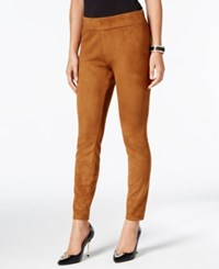 Thalia Sodi Faux Suede Pull On Pants Only At Macy's Camel Suede