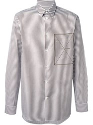 Cmmn Swdn Striped Shirt Brown