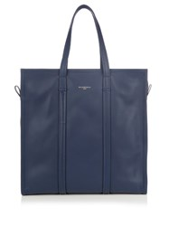 Balenciaga Bazar Medium Leather Tote Navy