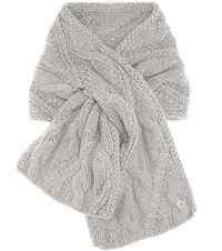 Loro Piana Chevril Baby Cashmere Knitted Scarf Grey