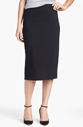 Vince Camuto Ponte Midi Skirt Regular And Petite Rich Black