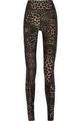 The Upside Dance Leopard Print Stretch Jersey Leggings Animal Print