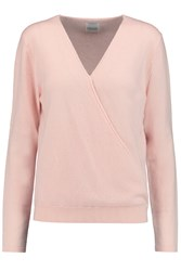 Madeleine Thompson Wrap Effect Cashmere Sweater Pink