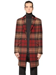 Etro Plaid Softly Brushed Wool Cloth Coat