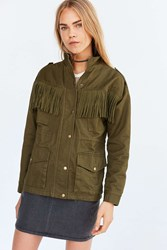 J.O.A. Fringe Surplus Jacket Olive