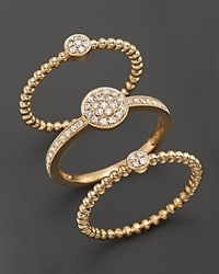 Bloomingdale's Diamond Pave 3 Ring Set In 14K Yellow Gold .50 Ct. T.W. Yellow Gold White Diamonds